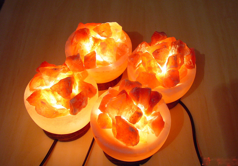 Fire Basket Salt Lamps : Himalayan Fire Bowl Salt Lamp Basket