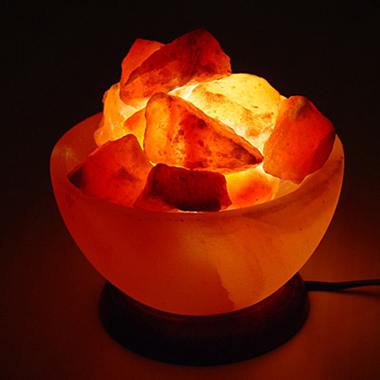 Salt Crystal Lamp Light Bulbs : Himalayan Fire Bowl Salt Lamp Basket