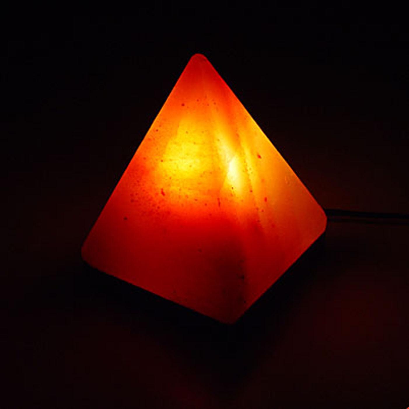 Salt Lamps Placement : Pink Himalayan Pyramid Salt Lamp