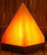 pink pyramid usb salt lamp