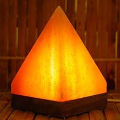 pink pyramid usb salt lamp